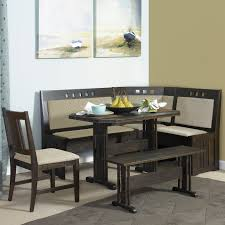 Kitchen Nook Impressive Papario Black 6 Piece Corner Dining Set Salemhomewoodcom