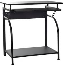 onespace 50 1001 stanton computer desk with pullout keyboard tray black office desk