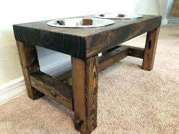 wood elevated dog bowls modern best raised dog bowls ideas on feeder in new standing dog