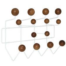 Plastic Coat Rack Eames Style HangItAll Wall Hanger Walnut Plastic Balls MCM Classics 70