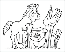 Farm Animals Coloring Pages For Preschool Print Coloring Image