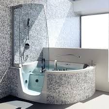 free standing bathtub shower combination corner composite by combo one piece