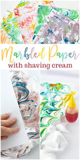 diy marbled paper with shaving cream