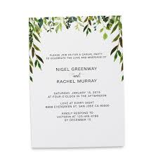 Announcement Cards Wedding Elopement Reception Invitation Cards Wedding Reception Invitations Greenery Simple And Minimalistic Invitation Card 213