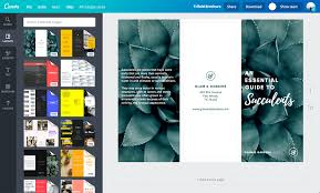 tri fold maker free online brochure maker canva