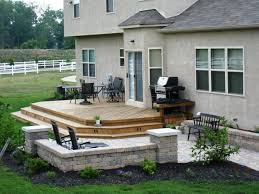 decoration in wood deck patio ideas and design with