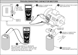 centrifugal thermal and capacitor switches cause most single figure 2 troubleshoot capacitors an ohmmeter and a resistor