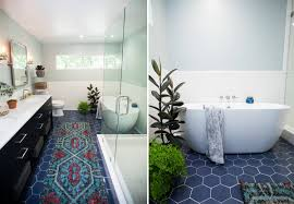 blue bathroom floor tiles. Beautiful Tiles Blue Hexagon Tiled Bathroom Floors Throughout Blue Bathroom Floor Tiles E
