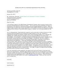 Sample Cover Letter For Summer Internship Popular It Internship