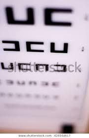 Opticians Ophthalmology Optometry Eye Test Chart Stock Photo