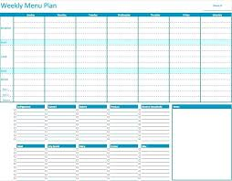 Excel Weekly Meal Planner Meal Planner Spreadsheet Printable Meal Planning Charts Plan