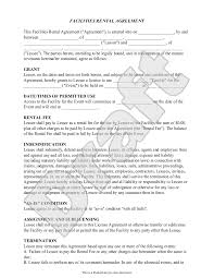 Rental Contract Agreement Event Rental Agreement Template Facilities Rental Agreement 17