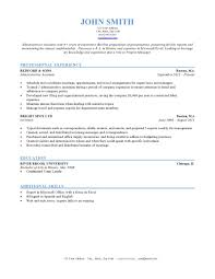 Resume Template Typical Resume Format Free Career Resume Template