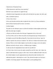 characteristics of expository essay characteristics of  2 pages characteristics of expository essays