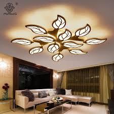 ceiling lights modern leaf design