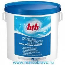 <b>Медленный</b> стабилизированный хлор в таблетках <b>HTH</b>, 5 кг ...