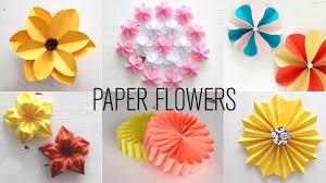 Flower Making Paper 6 Easy Paper Flowers Flower Making Diy Smart Easy Ideas