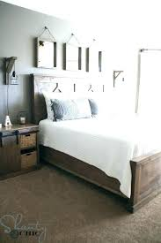 White Wooden King Size Bed Frame White Wood King Size Bed Frame ...