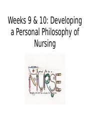 nursing scholarly paper personal philosophy of nursing essay  15 pages week 10 student ppt autosaved