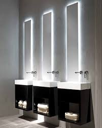 modern bathroom mirrors with lights. Architecture And Interior: Terrific How To Pick A Modern Bathroom Mirror With Lights At Behind Mirrors R