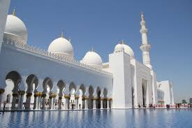 outer entrance of the sheikh zayed mosque