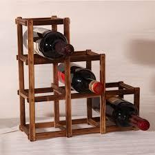wine racks for home. Simple For Foldable Carbonized 6 Grid Wood Wine Holder Fashion Rack BarHomeRestaurant  Decor Intended Racks For Home E
