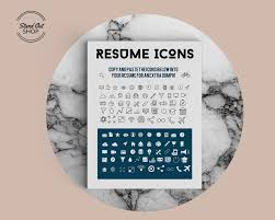 Resume Icons Resume Icons Stand Out Shop 97