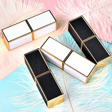 10/20/50PCS 12.1mm Square Black/White Patch Lipstick Tube New DIY ...