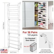 36 pair over the door shoe rack wall