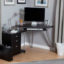 Black Corner Computer Desk For Home With Contemporary Design Concept
