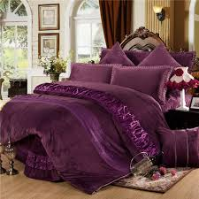 winter warm thick fleece bedclothes red purple grey queen king size bedding set 4 6pcs