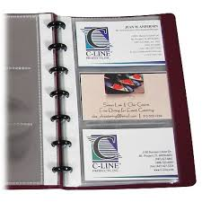 Binder Builder Business Card Holder Junior Refill 71537 C Line