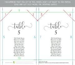 alphabetical wedding seating chart template printable plan sign table alphabetica
