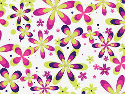 Cute Floral Pattern Vector Vector Art ...