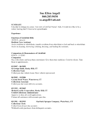 Certified Nursing Assistant Resume Templates Certified Nursing Assistant Resume Free Resume Templates 17