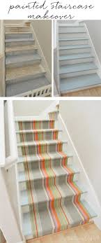 Refinishing Basement Stairs Peel And Stick Carpet Stair Treads Diy Treads Modern Treads