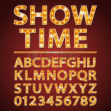 orange neon lamp letters font with show time words ver=6