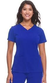 Hh Works By Healing Hands Womens Monica V Neck Solid Scrub Top