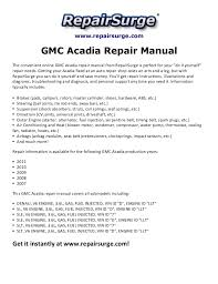 gmc acadia engine diagram wiring diagrams online
