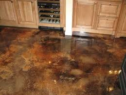 Concrete Kitchen Floor How To Stain A Concrete Floor Indoors How To Stain Concrete