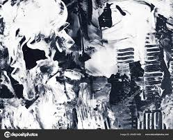 black and white creative abstract hand painted background fragment of brush acrylic painting on canvas wallpaper texture modern art contemporary art
