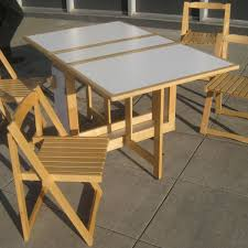 Unique Wood Folding Table And Chairs