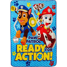 Paw Patrol Plush Throw Blanket