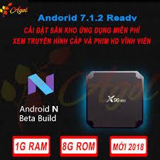 android tivi box mini x96 mini 1G Ram 8G Rom cài sẵn ứng dụng xem truyền  hình cáp và phim HD miễn phí vĩnh viển