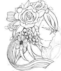 花とデザインを組み合わせたイラスト イラストと気ままな日々を