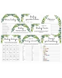 Popular baby shower games printable | Greenery | Instant download ...