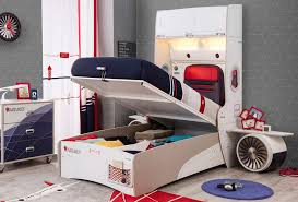 Hidden Cargo Storage Beneath Bed Has Gas Strut Hinges