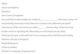Acknowledgement Of Letter Received How To Write Acknowledgement Letter Acknowledgment Sample