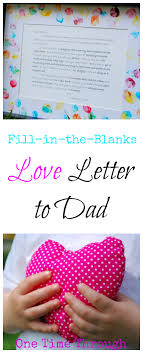 Love Letter To Dad For Father S Day Children Writing Youngest