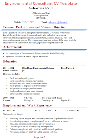 Environmental Officer Sample Resume New Environmental Consultant CV Template Tips And Download CV Plaza